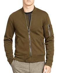 Polo Ralph Lauren Double Knit Bomber Jacket Company Olive