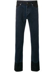 Lanvin Two Tone Slim Fit Jeans Blue