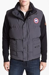 Canada Goose Men's 'Freestyle' Water Resistant Regular Fit Down Vest Graphite Grey