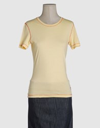 Waimea Classic Topwear Short Sleeve T Shirts Women Yellow