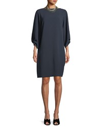 Lafayette 148 New York Wynona Dress In Finesse Crepe Ink