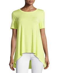 Philosophy Short Sleeve Sheer Back Top Mystic Neon
