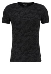 Blend Of America Print Tshirt Charcoal Anthracite