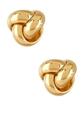 14K Yellow Gold Polished Fancy Love Knot Earrings
