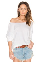 Cp Shades Brittany French Terry Top White