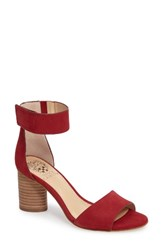 Vince Camuto Women's Jacon Sandal Tribal Red Leather
