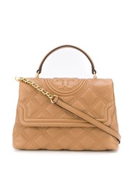 Tory Burch Quilted Shoudler Bag Neutrals