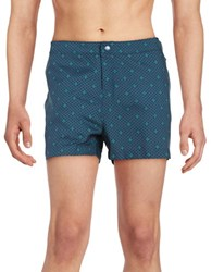 Original Penguin Mini Palm Swim Shorts Blue