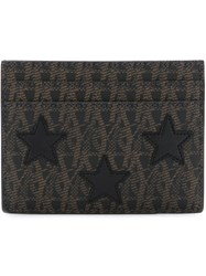 Saint Laurent 'Toile Monogram' Card Holder Brown