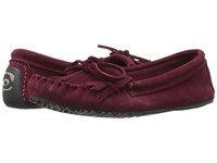 Manitobah Mukluks Sunshine Moccasin Rhubarb Women's Moccasin Shoes Red