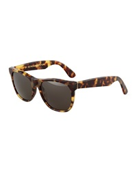 Super By Retrosuperfuture Classic Tortoise Green Sunglasses Cheetah