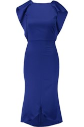 Antonio Berardi Layered Stretch Wool Dress Royal Blue