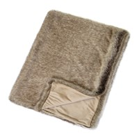 Helen Moore Faux Fur Throw 180X145cm Signature Truffle