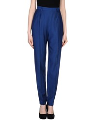 Antonio Fusco Trousers Casual Trousers Women Blue