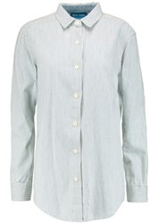 Mih Jeans M.I.H Striped Cotton Shirt Light Blue