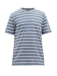 The Gigi Ginger Striped Cotton T Shirt Blue White