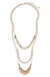 Cara Women's Triple Strand Necklace
