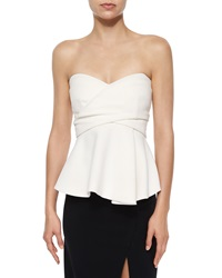 Derek Lam Strapless Corset Top W Metallic Bands