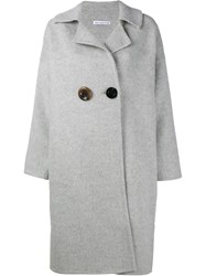 Rejina Pyo Kate Oversized Wool Coat Grey
