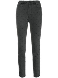 Ulla Johnson Dotted Cropped Jeans Black