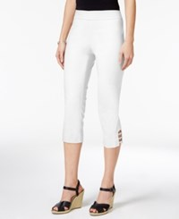 Jm Collection Petite Lattice Hem Capri Pants Only At Macy's Bright White