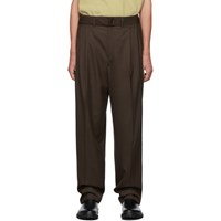 Christophe Lemaire Brown Pleated Trousers