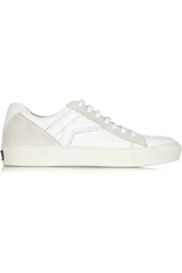 Karl Lagerfeld Leather And Suede Sneakers White