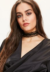 Missguided Black Lace Choker Necklace