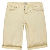 River Island Mens Yellow Skinny Fit Denim Shorts