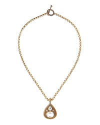 Stephen Dweck Bronze Chain Rock Crystal Necklace