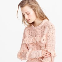 J.Crew Pre Order Collection Fringe Crewneck Sweater