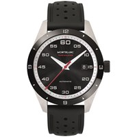 Montblanc 116059 Men's Timewalker Automatic Date Rubber Strap Watch Black