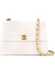 Chanel Vintage Quilted Flap Bag White