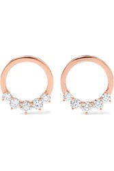 Anita Ko Floating 18 Karat Rose Gold Diamond Hoop Earrings