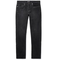 Tom Ford Slim Fit Stretch Cotton Corduroy Trousers Gray