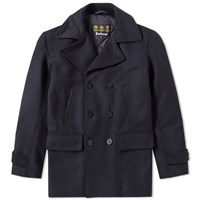 Barbour Batten Wool Peacoat Blue