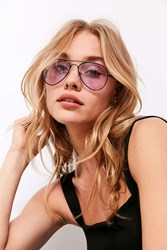 Urban Outfitters Good Vibes Aviator Sunglasses Purple