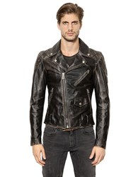 Belstaff Arlingham Washed Leather Biker Jacket