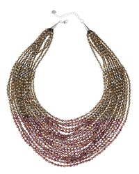 Nakamol Layered Bead Statement Necklace Purple Smoke