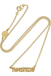 Marc By Marc Jacobs Twisted Gold Tone Cubic Zirconia Necklace
