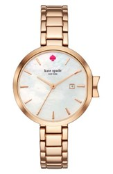 Kate Spade Women's New York Park Row Bracelet Watch 34Mm Rose Gold Mother Of Pearl