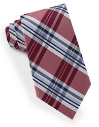 Lord And Taylor James Plaid Tie Red
