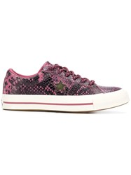 Converse One Star Ox Sneakers Pink And Purple