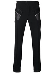 Les Hommes Zip Patch Tailored Trousers Black