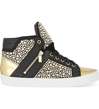 Gina Alessia Crystal High Top Trainers Blk Other