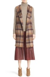 Lafayette 148 New York Women's 'Tai' Pavillion Brushed Plaid Vest