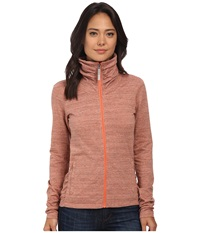 Bench Nolie B Zip Thru Coral Marl Women's Clothing Brown