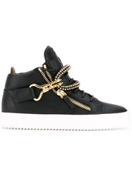Giuseppe Zanotti Design Ferreira Hi Top Sneakers Women Leather Rubber 37 Black