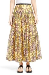 Red Valentino Women's Passion Flower Print Skirt