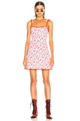 Joostricot Camisole Dress In Floral Pink Red White Floral Pink Red White